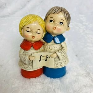 Vintage Choir Singers Carolers Song Christmas Holi
